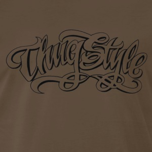 Thug style graffiti [black edition] - Men's Premium T-Shirt