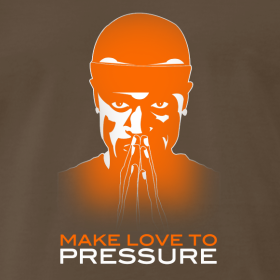 Design ~ Make Love to Pressure T-Shirt - Men's Heavyweight