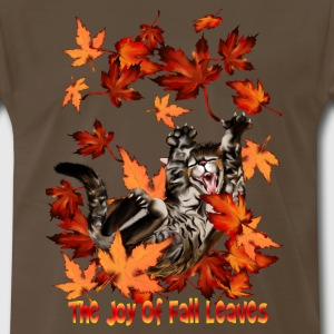 The Joy Of Fall Leaves - Men's Premium T-Shirt