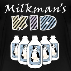 Black Milkman's Kid Funny Baby Clothes Toddler Shirts
