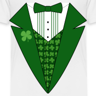 Design ~ Toddler Leprechaun Tuxedo T-Shirt, St Patricks Day