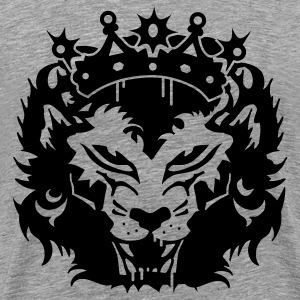 Ash  The lion's head with crown T-Shirts - Men's Premium T-Shirt