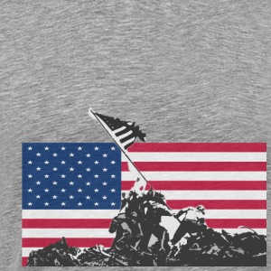 Heather grey flag soldiers T-Shirts - Men's Premium T-Shirt