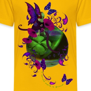 Yellow a_kiss_and_a_wish Kids' Shirts - Kids' Premium T-Shirt