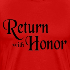 Red Return With Honor T-Shirts