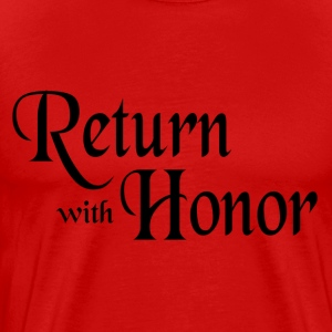 Red Return With Honor T-Shirts - Men's Premium T-Shirt