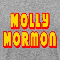 Heather grey Molly Mormon T-Shirts