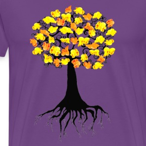 Purple Popcorn Popping on the Apricot Tree T-Shirts - Men's Premium T-Shirt