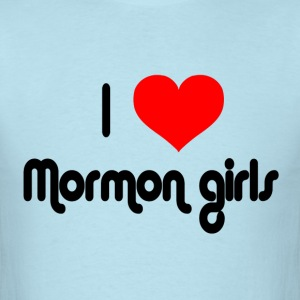 Sky blue I Love Mormon Girls T-Shirts - Men's T-Shirt