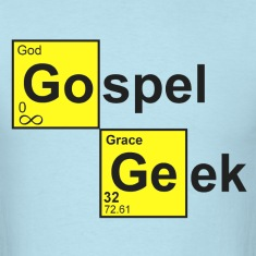 Sky blue Gospel Geek T-Shirts