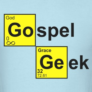 Sky blue Gospel Geek T-Shirts - Men's T-Shirt