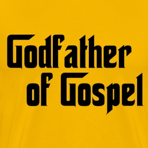 Yellow Godfather of Gospel T-Shirts - Men's Premium T-Shirt