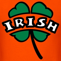 Orange Irish Arc Cutout 4-Leaf Clover T-Shirts