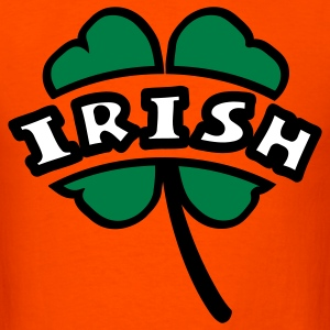 Orange Irish Arc Cutout 4-Leaf Clover T-Shirts - Men's T-Shirt