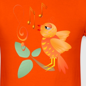 Orange Singing BIrd - Men's T-Shirt