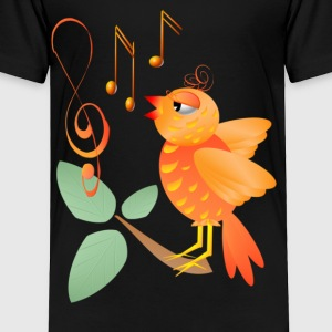 Orange Singing BIrd - Toddler Premium T-Shirt