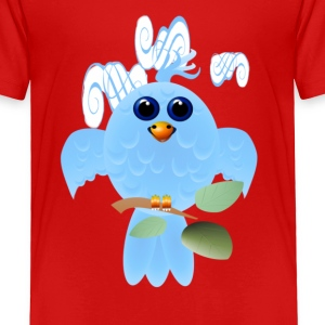 Sky Blue Bird - Toddler Premium T-Shirt