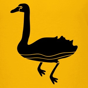 Yellow swan swimming bird with a long neck Kids' Shirts - Kids' Premium T-Shirt