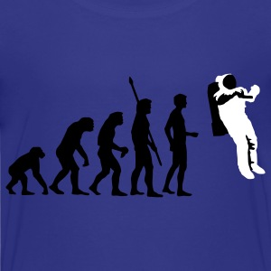Royal blue evolution_astronaut_2c Kids' Shirts - Kids' Premium T-Shirt