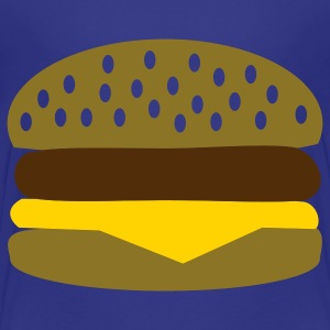 Royal blue Burger Kids' Shirts - Kids' Premium T-Shirt