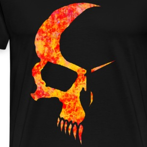 Black flamed skull T-Shirts - Men's Premium T-Shirt