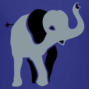 Royal blue silver indian elephant Kids' Shirts - Kids' Premium T-Shirt