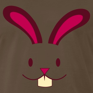 Brown EASTER rabbit cute face with teeth ! T-Shirts - Men's Premium T-Shirt