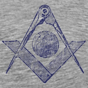 Ash  Square & Compasses T-Shirts - Men's Premium T-Shirt
