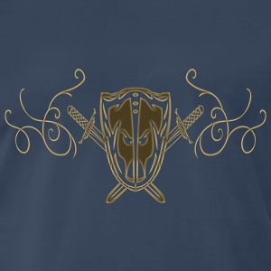 guardianofswords2_shieldforward3yellw T-Shirts - Men's Premium T-Shirt