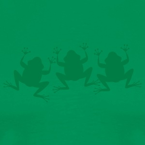Kelly green three froggy shapes T-Shirts - Men's Premium T-Shirt