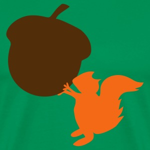 Kelly green squirrel with nut T-Shirts - Men's Premium T-Shirt