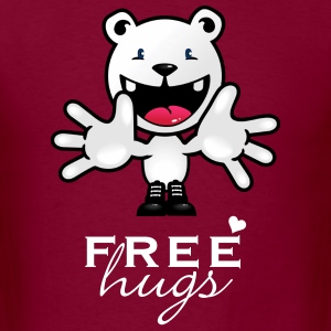 Burgundy free hugs (1c) T-Shirts - Men's T-Shirt