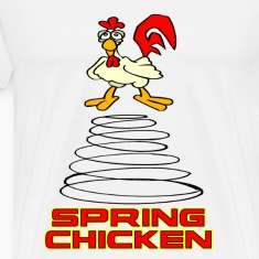 White Spring Chicken T-Shirts