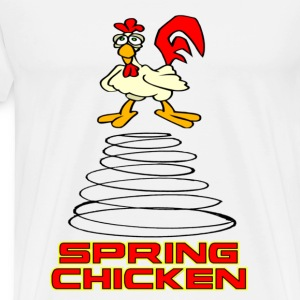 White Spring Chicken T-Shirts - Men's Premium T-Shirt