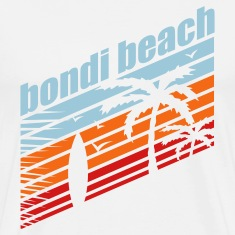 White BONDI BEACH T-Shirts