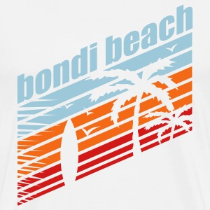 White BONDI BEACH T-Shirts - Men's Premium T-Shirt