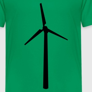 Kelly green Wind wheel Kids' Shirts - Kids' Premium T-Shirt