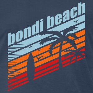 Navy BONDI BEACH T-Shirts - Men's Premium T-Shirt