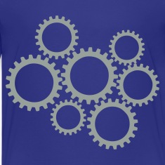 Royal blue Gears Kids' Shirts