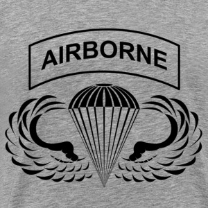 Airborne Hardcore Black - Men's Premium T-Shirt