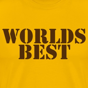 Gold worlds best present gift for someone special T-Shirts - Men's Premium T-Shirt