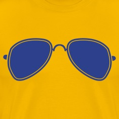 Gold aviator glasses cool funky sunglasses T-Shirts