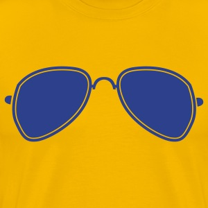 Gold aviator glasses cool funky sunglasses T-Shirts - Men's Premium T-Shirt