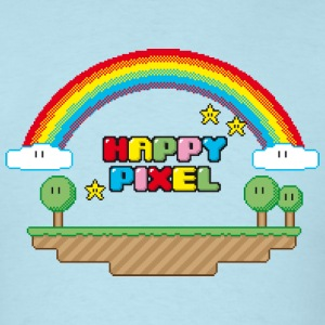 Sky blue Happy Pixel T-Shirts - Men's T-Shirt