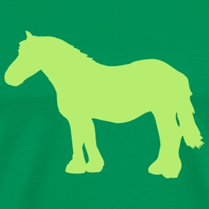 Kelly green cold-blooded horse T-Shirts - Men's Premium T-Shirt