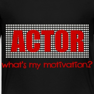 Black Actor, What's My Motivation, Dot Marquee, White And Red--DIGITAL DIRECT ONLY Toddler Shirts - Toddler Premium T-Shirt