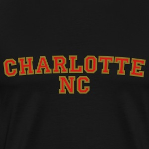 Charlotte NC College Style Rounded T-Shirts - Men's Premium T-Shirt