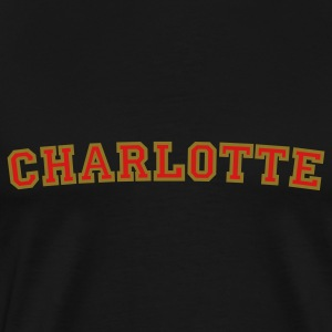 Charlotte College Style Rounded T-Shirt - Men's Premium T-Shirt
