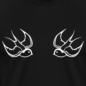 Black swallows T-Shirts - Men's Premium T-Shirt
