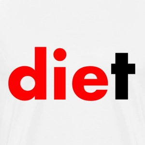 White Die Diet T-Shirts - Men's Premium T-Shirt